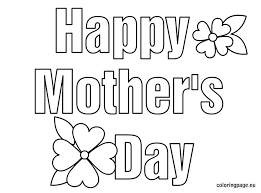Free Coloring Pages Of Happy Mothers Day