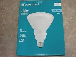 120w equivalent daylight 5000k br40 cfl light bulb