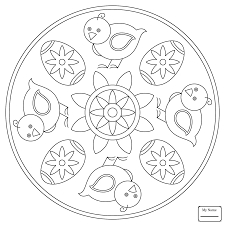 Coloring Pages Easter Mandala With Bunny And Eggs Mandalas Arts Culture