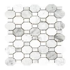 Jeffrey Court Mosaic Tile by Jeffrey Court Crisp Illusion 12 In X 12 In X 8 Mm Limestone