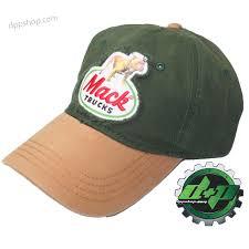 100 Mack Truck Hat Mack Bulldog Semi Truck Truckers Hat Ball Cap Back Diesel Green Gold