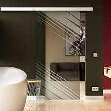 glas schiebetür 205x77 5 cm dessin quadrat q levidor