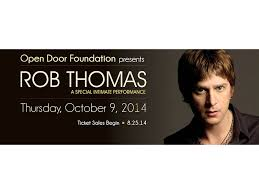 Intimate Concert with Rob Thomas to benefit Open Door Family