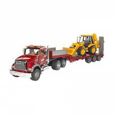 Berapa Harga Bruder Toys MACK Granite Low Loader & JCB 4CX Mainan ...