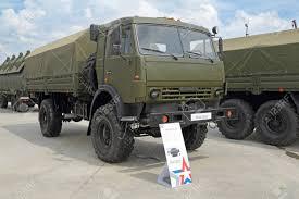 100 Russian Military Trucks KUBINKA MOSCOW OBLAST RUSSIA JUN 15 2015 International Stock