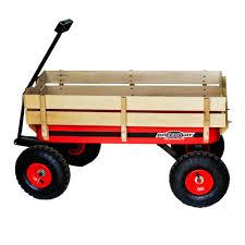 SPEEDWAY 200 lb Capacity All Terrain Wooden Racer Wagon