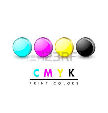 Three Dimensional Primary Cmyk Print Color Icons On White Background Vector