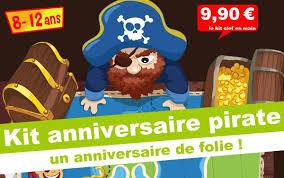 kit anniversaire kolat le pirate chasseur de trésor 8 12 ans