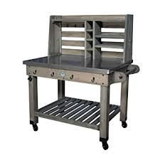 Amazon Backyard Discovery Patio Serving Cart Barn Stain