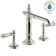 Kohler Devonshire Faucet Brushed Nickel by Kohler Devonshire 8 In Widespread 2 Handle Low Arc Bathroom