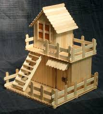 Popsicle House Stick From Family Playhouse Diy Step By Doll Houses