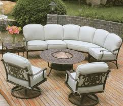 Threshold Patio Furniture Cushions by Beautiful Outdoor Furniture With Wrought Iron Sofa Base With White
