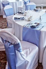 riviera sky blue sashes and runner crisp and clean against white