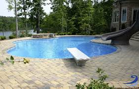 Inground Pools Diving Board And Slide Other
