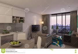 modernes wohnzimmer in privat house stock abbildung