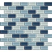color wave glass cw27 winter blues blend 1 x 2 brick subway
