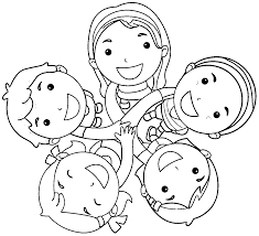 Free Friends Coloring Page