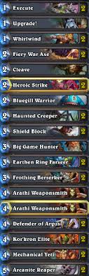 need help with hearthstone super budget warrior control deck