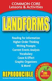 Landforms Common Core Lessons Activities