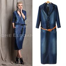 compare prices on long blue jean dress online shopping buy low