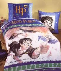 harry potter twin duvet cover pillowcase flying keys bedding set
