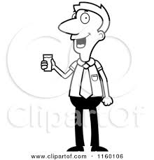 water glass clip art black and white