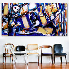 100 Ochre Home Perin Kind Of Blue And Too Pop Art HD Print Abstract