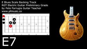 preli guitare a le guitar backing track e blues scale preliminary grade