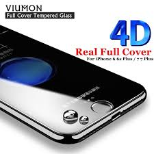 New 4D Full Cover Tempered Glass For iPhone 6 6s Plus COLD CARVING
