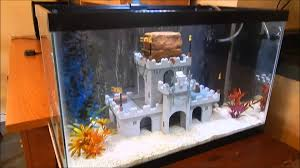 Spongebob Fish Tank Decorations by Lego Castle Fish Tank Youtube