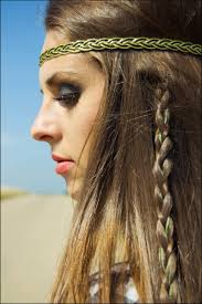Classic Hippie Hairstyle With Braid
