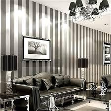 368 inspiration wandaufkleber 10 mt x 53 cm vertikale gestreifte tapete wohnkultur for wohnzimmer schlafzimmer wandverkleidungen metallic schwarz