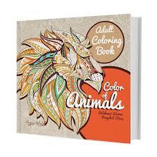 Huta Paint Adult Coloring Book Color Of Animals By Ranggi Ariliah Buku Arts