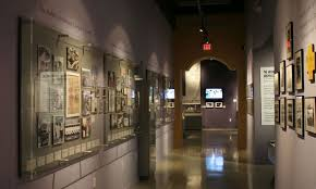 Even This Narrow Hallway Became Exhibit Display Space Custom Wall Displays Designed By AST Showcase Various Historical Photos