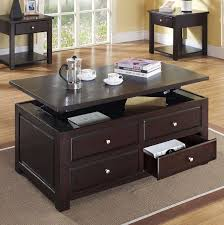 coffee tables simple espresso coffee table wooden with storage