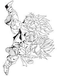 Dragon Ball Kids Coloring Page