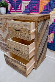 Pallet Wood Dresser With Multiple Drawers