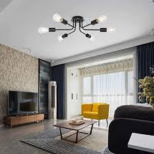 hws deckenle vintage metall deckenleuchte moderner stil kronleuchter 6 licht deckenbeleuchtung deckenstrahler für esszimmer wohnzimmer foyer