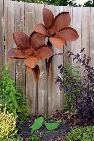 Rusty Metal Garden Decor Gardens Art And Yard