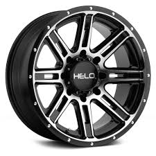 100 Helo Truck Wheels HELO HE900 Gloss Black With Machined Face Rims