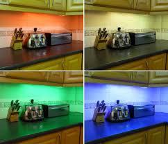 colour changing led kitchen cabinet lighting set includes