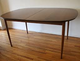 Mid Century Modern Dining Table With Built In Hidden Extension Leaf