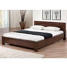 Overstock Alsa Platform Full Size Bed Add a modern touch
