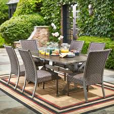Home Depot Outdoor Dining Chair Cushions by Hampton Bay Carleton Place 7 Piece Patio Dining Set Rxhd 43 Set