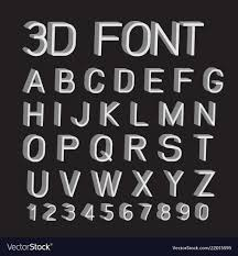3d Fonts Numbers
