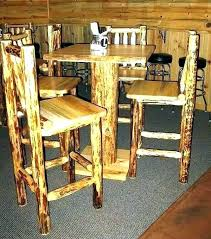 Rustic Pub Tables Bar Height Table Of Dining Attractive Counter Set With Stools T