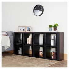 Open Bookcase by Bauster 8 Cubby Open Bookcase Room Divider Espresso Homes