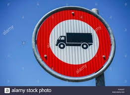 100 Truck Sign Forbidden Truck Sign Red Circle With Black Icon Stock Photo