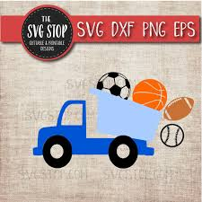 100 Balls For Truck Dump With Sports Svg Cut File Clipart The SVG Stop