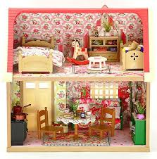 sylvanian families fully furnished cath kidston decorated